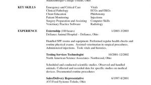 Vet Tech Student Resume Samples 16 Luxury Images Of Vet Tech Resume Sample