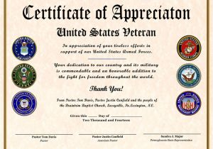 Veterans Appreciation Certificate Template 10 Best Images Of Printable Veteran Certificate Of