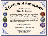 Veterans Appreciation Certificate Template 26 Images Of Military Certificate Border Template