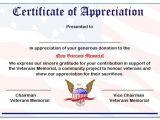 Veterans Appreciation Certificate Template 50 Professional Free Certificate Of Appreciation