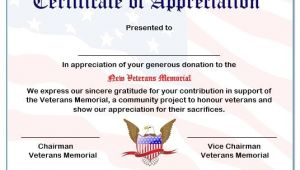 Veterans Appreciation Certificate Template 50 Professional Free Certificate Of Appreciation