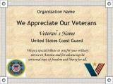 Veterans Appreciation Certificate Template 8 Best Images Of Veterans Day Certificates Printable