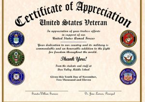 Veterans Appreciation Certificate Template Certificate Of Appreciation Wording Task List Templates