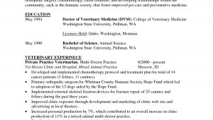 Veterinary Student Resume Examples Cv Template Veterinary Student 1 Cv Template Student