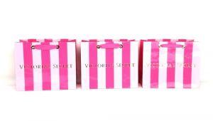 Victoria S Secret Angel Card Birthday Gift Victorias Secret Striped Small Gift Paper Bag 7 5 X 6 X 3 5