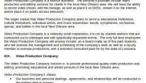 Video Production Business Plan Template 20 Business Plan Templates Free Premium Templates