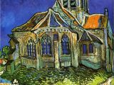 Vincent Van Gogh Happy Birthday Card Van Gogh the Church at Auvers by Pg Reproductions Auvers