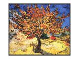 Vincent Van Gogh Happy Birthday Card Vincent Van Gogh the Mulberry Tree Fine Art Canvas Print