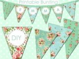 Vintage Bunting Template Vintage Happy Birthday Card Festive Banner as Bunting