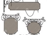 Vintage Sign Templates Free Vintage Wrought Iron Signs Stock Vector Illustration Of