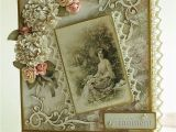 Vintage Style Birthday Card Handmade Romantic Romantyczna Vintage Wedding Cards
