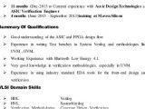 Vlsi Engineer Resume Resume format Vlsi Design Engineer Resume format