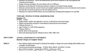 Vmware Basic Resume Vmware Resume Samples Velvet Jobs
