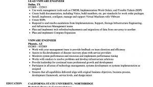 Vmware Engineer Resume Vmware Engineer Resume Samples Velvet Jobs