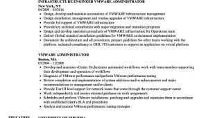 Vmware Resume Sample Vmware Administrator Resume Samples Velvet Jobs