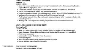 Voice Engineer Resume Voice Engineer Resume Samples Velvet Jobs