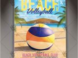 Volleyball Flyer Template Free Beach Volleyball Premium Flyer Psd Template Psdmarket