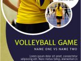 Volleyball Flyer Template Free Volleyball Flyer Template Postermywall