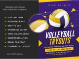 Volleyball Flyer Template Free Volleyball Tryouts Flyer Template Flyerheroes