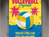 Volleyball Flyer Template Free Volleyball Tryouts Premium Flyer Psd Template Psdmarket