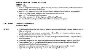 Volunteer Resume Sample Community Volunteer Resume Samples Velvet Jobs