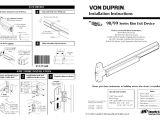 Von Duprin 99 Template Factory Direct Hardware Von Duprin 98eo User Manual 4