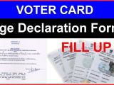 Voter Id Card Name Change Voter Card Age Declaration form Fill Up In Hindi Ii Age A A A A A A A A A A A A A A A A A A A A A A A