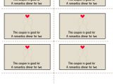 Voucher Booklet Template Free Printable Love Coupons