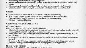Waitress Resume Sample Food Service Waitress Waiter Resume Samples Tips