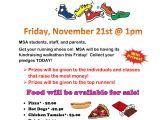 Walk A Thon Flyer Template Fundraising Msa Sc Pto