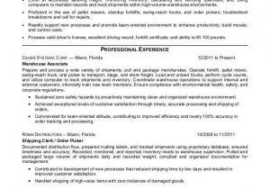 Warehouse Resume Templates Warehouse associate Resume Sample Monster Com