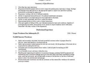 Warehouse Resume Templates Warehouse Worker Resume Occupational Examples Samples