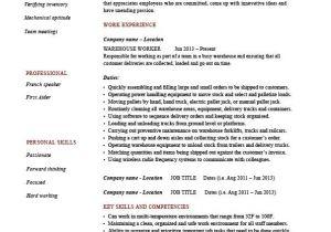 Warehouse Resume Templates Warehouse Worker Resume Sample Example Distribution