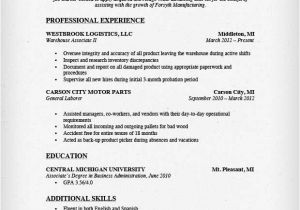 Warehouse Resume Templates Warehouse Worker Resume Sample Resume Genius