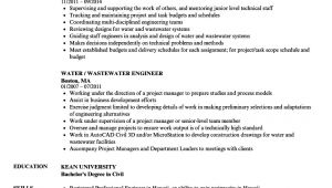 Water Supply Engineer Resume Water Wastewater Engineer Resume Samples Velvet Jobs