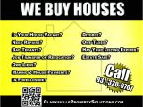 We Buy Houses Flyer Template We Buy Houses Advertisement Clarksville Property