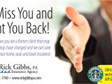 We Want You Back Email Template Postcard Samples Direct Mail Marketing Wilson Printing