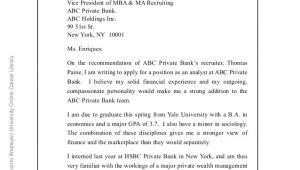 Wealth Management Cover Letter Sample Malecki Recruitment solutions