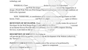 Web Development Contract Template Free Website Development Agreement Web Development Contract