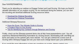 Webinar Follow Up Email Template How to Follow Up and Convert An attendee after A Webinar