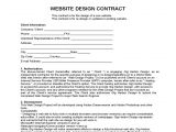 Webmaster Contract Template Website Design Contract Free Download