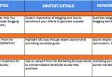 Website Editorial Calendar Template Content Calendar for Digital social Media Publishing
