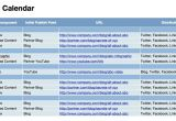 Website Editorial Calendar Template Editorial Calendar Template for Iwork Numbers