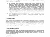 Website Support Contract Template Website Service Agreement Terms Of Use Template Word