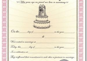 Wedding Anniversary Certificate Template 7 Best Images Of Anniversary Certificate Wedding
