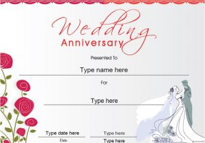 Wedding Anniversary Certificate Template Certificate Street Free Award Certificate Templates No