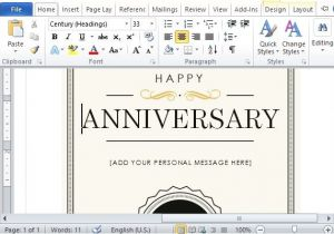 Wedding Anniversary Certificate Template How to Create A Printable Anniversary Gift Certificate