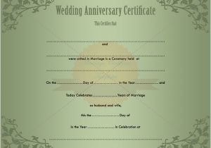 Wedding Anniversary Certificate Template Keepsake Printable Wedding Certificate Template