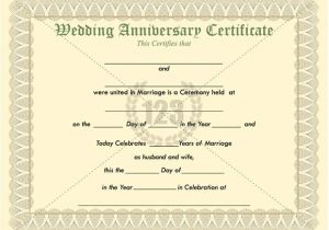 Wedding Anniversary Certificate Template Most Memorable Wedding Anniversary Certificate Templates