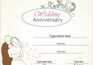 Wedding Anniversary Certificate Template Relationships Certificates Wedding Anniversary
